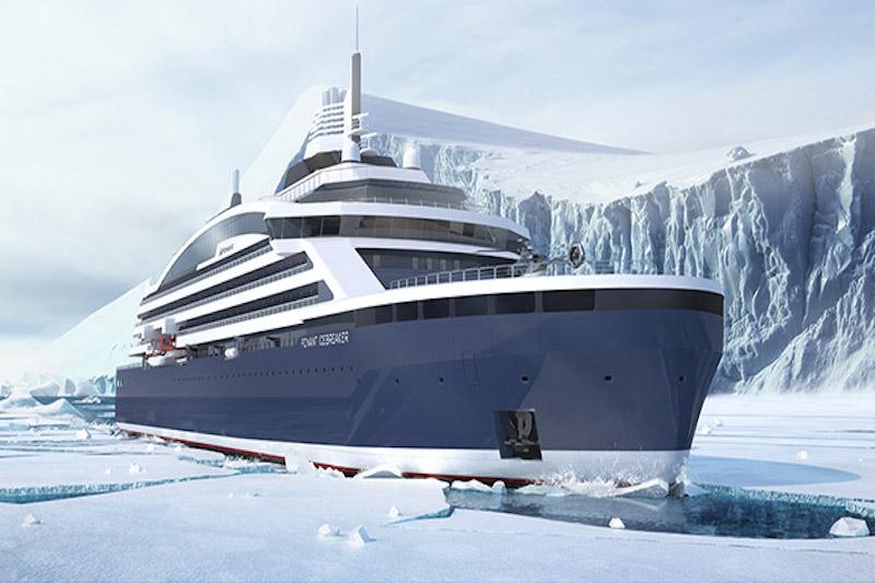 Le premier brise-glace de croisière de luxe est annoncé pour 2021